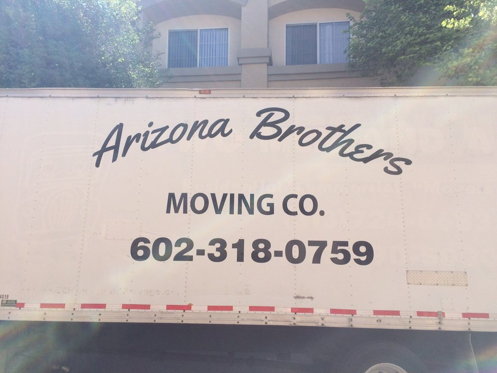 Arizona Brothers Moving company truck with phone number.